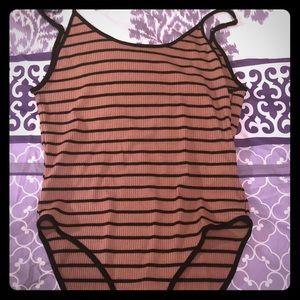 Forever 21 striped bodysuit